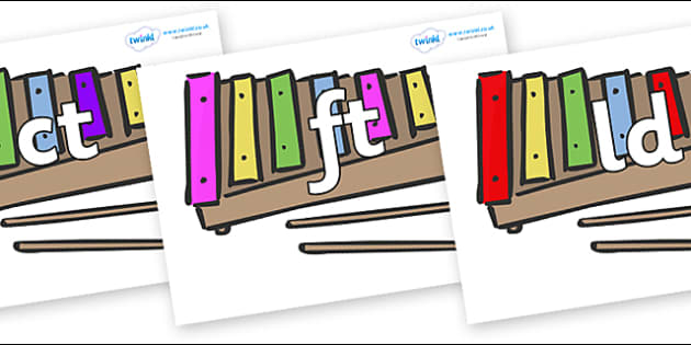 Final Letter Blends on Glockenspiels - Final Letters, final letter, letter blend, letter blends, consonant, consonants, digraph, trigraph, literacy, alphabet, letters, foundation stage literacy
