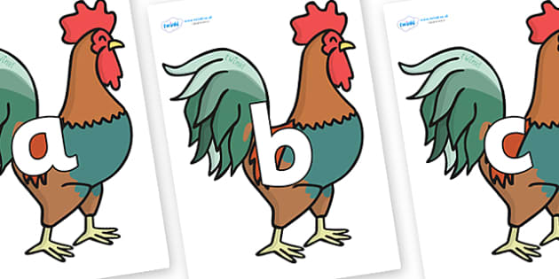 Phoneme Set on Rooster - Phoneme set, phonemes, phoneme, Letters and Sounds, DfES, display, Phase 1, Phase 2, Phase 3, Phase 5, Foundation, Literacy