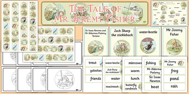 Beatrix Potter - The Tale of Mr Jeremy Fisher Story Sack - beatrix potter, mr jeremy fisher