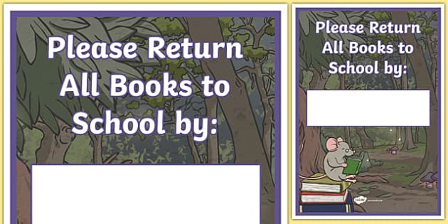 Book Return Template Display Poster