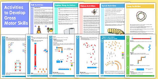 Activities to Develop Gross Motor Skills Booklets - motor skills