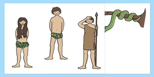 Adam and Eve Creation Story Stick Puppets - usa, america, Adam, Eve, Eden, serpent, fruit, earth, garden, creation, creation story, story, story book, story sequencing, story resources, stick puppet, paradise, sea creatures, birds, stars, moon, sun,