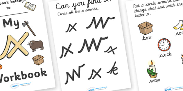 My Workbook x Lowercase Cursive - workbook, x workbook, letter x, my workbook, my x workbook, lowercase x, x, lowercase x workbook