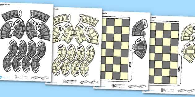 Printable Chess Game - chess, game, activity, printable, print