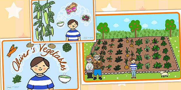 Olivers Vegetables Story Sequencing - olivers vegetables, story