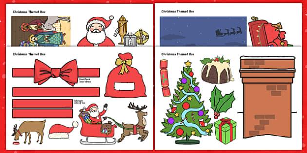 Christmas Themed Mug Box Decals Pack - mug box, decals, themed, pack, christmas