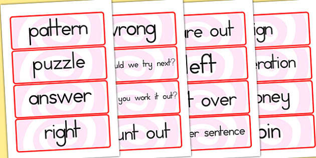 Maths Solving Problems Word Cards - math problems, prolem solving