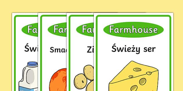 Plakaty Sklep ekologiczny po polsku