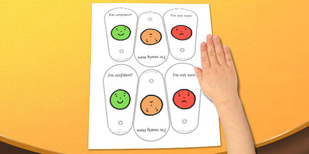 Communication Fans - self assessment, communication cards, traffic lights, feedback fans