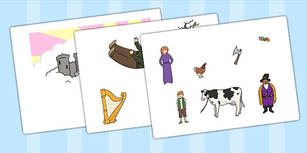 Jack and the Beanstalk Story Cut Outs - story, cut outs, display