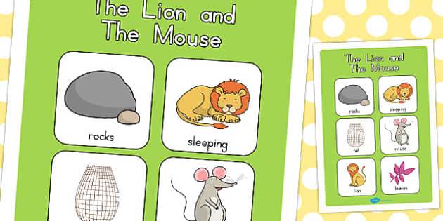 The Lion and the Mouse Vocabulary Poster - australia, vocabulary