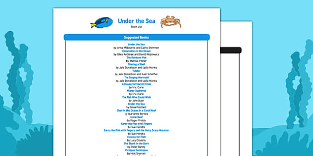 Under the Sea Book List