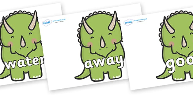 Next 200 Common Words on Triceratops Dinosaurs - Next 200 Common Words on  - DfES Letters and Sounds, Letters and Sounds, Letters and sounds words, Common words, 200 common words