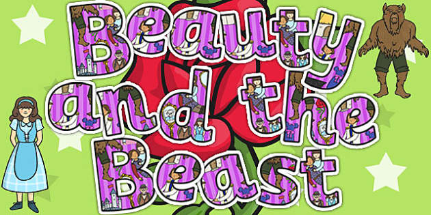Beauty and the Beast Display Lettering - traditional tale, letter