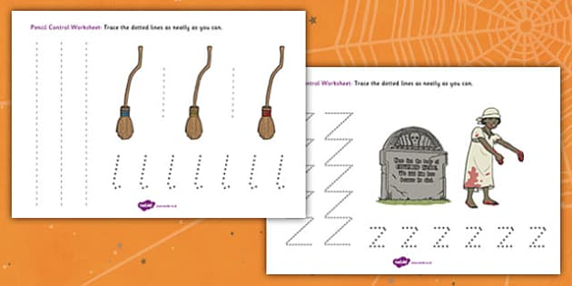 Halloween Pencil Control Worksheet - halloween, pencil control, pencil control worksheets, fine motor skills, fine motor worksheets, halloween worksheets