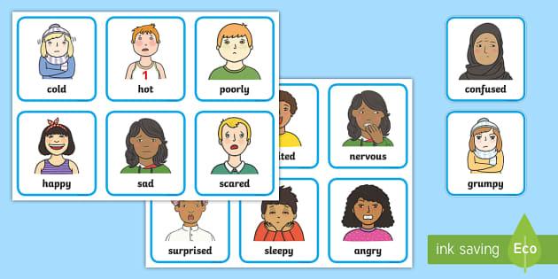 Feelings and Emotions Cards-feelings, emotions, cards, feelings cards, emotion cards, display cards, feelings work, emotion work