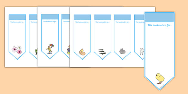 Spring Bookmarks - spring, bookmarks, awards, rewards, reading
