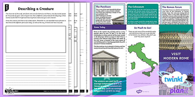 PlanIt Y4 Myths and Legends: Romulus and Remus Home Learning Tasks - Romulus, Remus, literacy, Y4, Year 4, English, planning, Roman, Ancient Rome, mythology,  web, topic