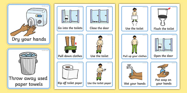 Visual Timetable (Using The Toilet - Boys) - how to use the toilet boy, education, home school, child development, children activities, free