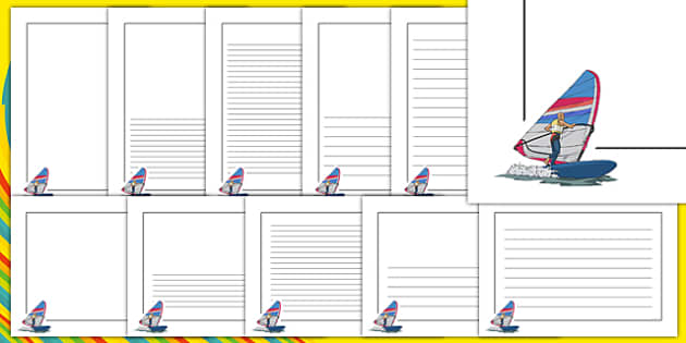 Rio 2016 Olympics Sailing Page Borders - Sailing, Olympics, Olympic Games, sports, Olympic, London, 2012, page border, border, writing template, writing aid, writing, activity, Olympic torch, events, flag, countries, medal, Olympic Rings, mascots