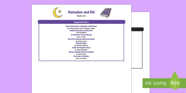 EYFS Eid Book List