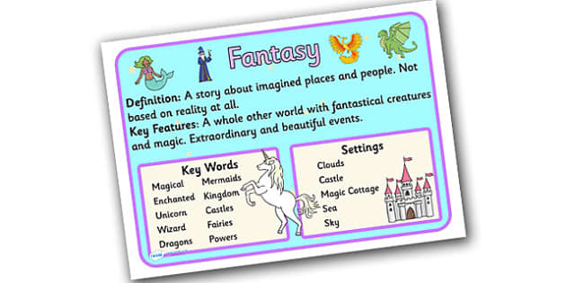 Story Genres Fantasy Display Posters - story genres, story genre posters, fantasy poster, different genres, reading corner posters, fantasy genre, ks2