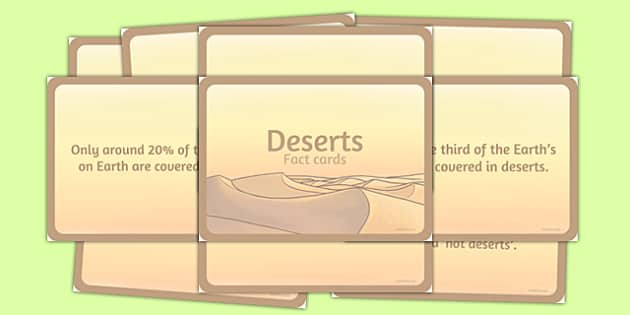 Amazing Deserts Display Fact Cards - deserts, cards, facts