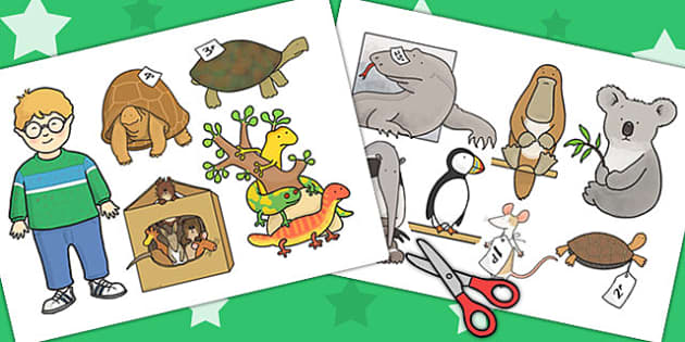 Stick Puppets to Support Teaching on The Great Pet Sale - pets, puppet, roleplay, animal
