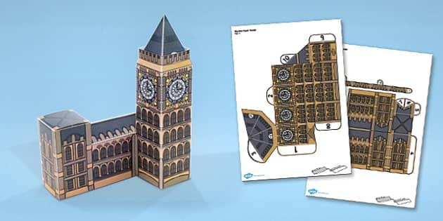 Big Ben Paper Model - Big, Ben, Paper, Model, London, Craft