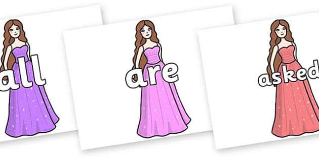 Tricky Words on Dolls - Tricky words, DfES Letters and Sounds, Letters and sounds, display, words