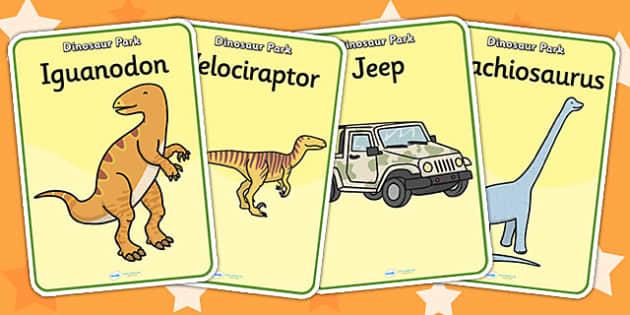 Dinosaur Park Role Play Posters - dinosaur park, display poster, dinosaur park role play, role play, dinosaur park display poster, dinosaur themed