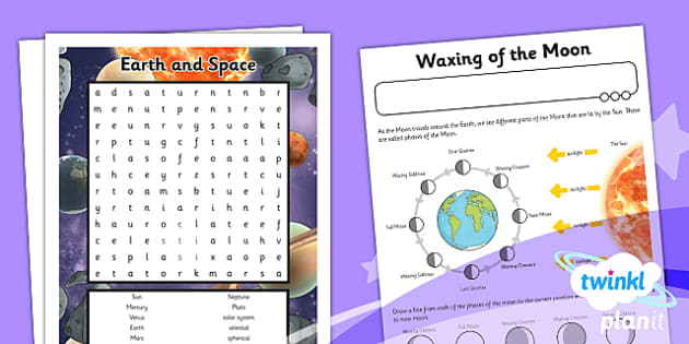 PlanIt - Science Year 5 - Earth and Space Unit: Home Learning Tasks