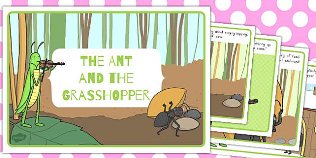 The Ant and the Grasshopper Story - australia, ant, grasshopper