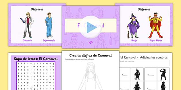 Pack de recursos - carnaval - carnaval, disfraces, fiestas nacionales