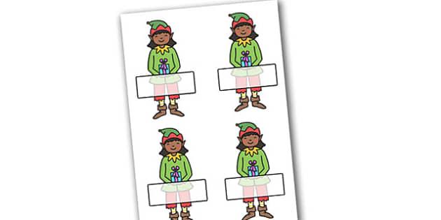 Christmas Self Registration Girl Elf Editable  - christmas, xmas