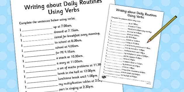 my daily routine essay english