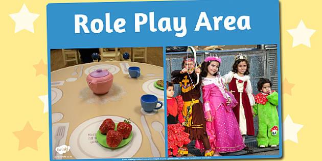 Role Play Area Photo Sign - role play, area, photo, sign, display