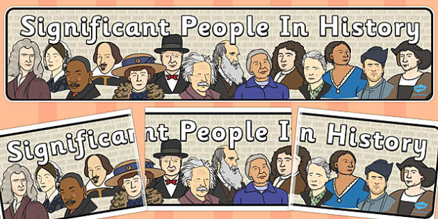 Significant People in History Display Banner - display, banner
