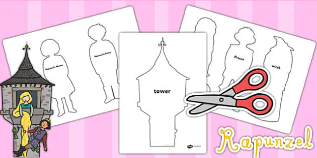 Rapunzel Shadow Puppets - puppets, role play, stories, games