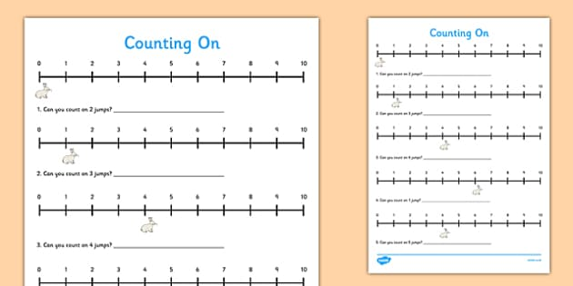 Counting On Activity Display Pack - CfE, numeracy, counting on, numbers to 10