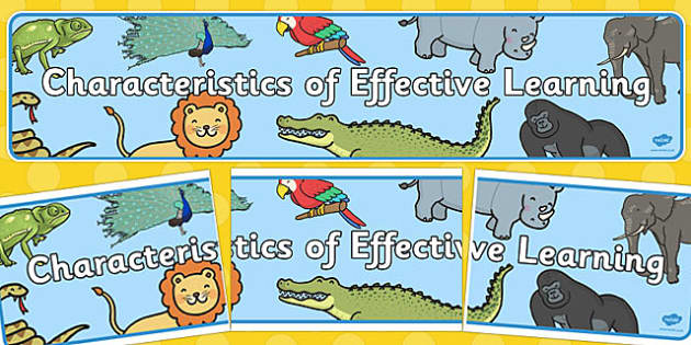 Characteristics of Effective Learning Display Banner - effective learning, display