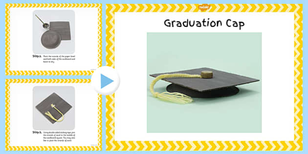 Graduation Cap Craft Instructions PowerPoint - graduation cap, craft