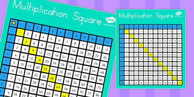 Multiplication Square - australia, multiplication, square, maths