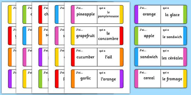 French Food Loop Cards - French, Food, Loop, Cards, France, Eat