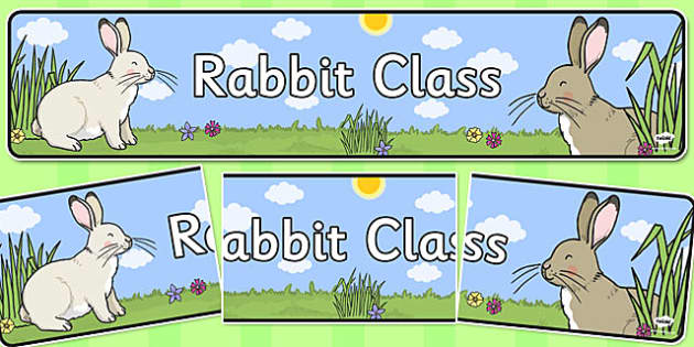 Rabbit Themed Classroom Display Banner - Themed banner, banner, display banner, Classroom labels, Area labels, Poster, Display, Areas