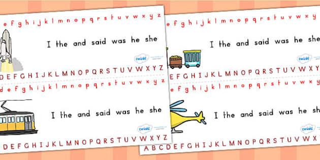 Alphabet Strips - alphabet, a-z, visual aid, a-z strips, writing