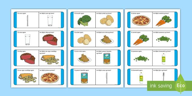 Am Dinnéir Loop Cards Gaeilge - Bia, Irish, food, dinner, dinnertime,Irish