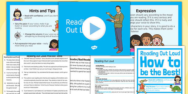 Reading Out Loud Lesson Pack - reading, out loud, lesson, pack