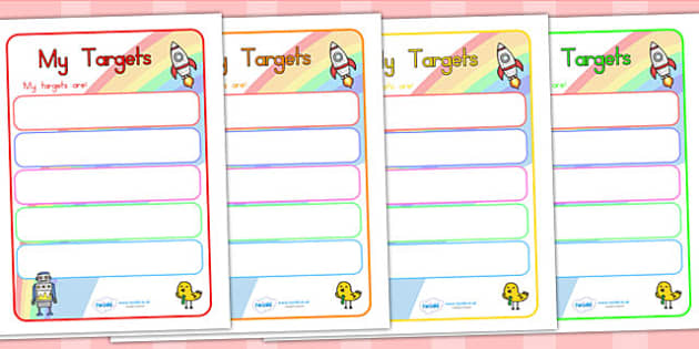 Editable Target Learning Objectives Book Labels - labels, signs