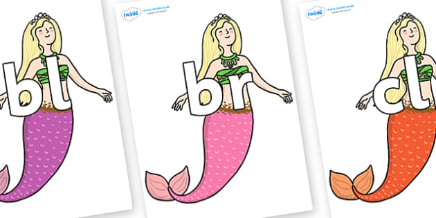Initial Letter Blends on Second Sister - Initial Letters, initial letter, letter blend, letter blends, consonant, consonants, digraph, trigraph, literacy, alphabet, letters, foundation stage literacy